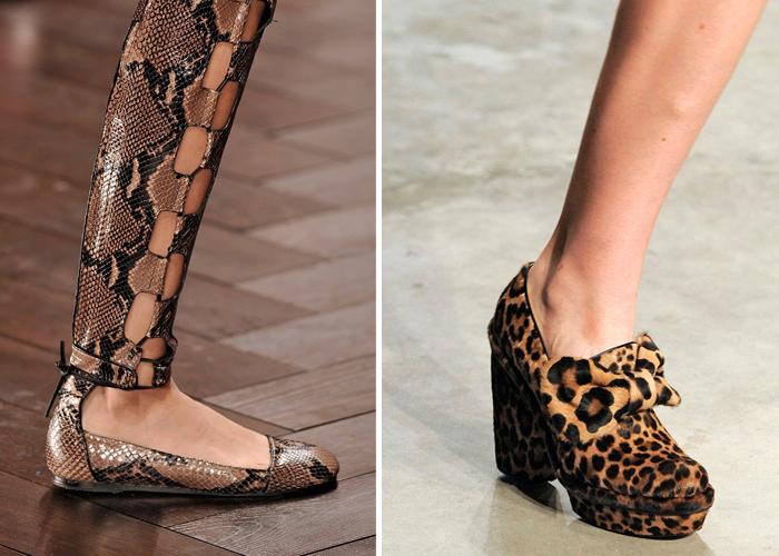 animal prints londres 2014 Sapatos que serão tendência no inverno 2014