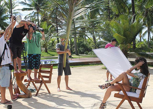 A equipe da Morena Rosa em Itacaré - Foto: Divulgação