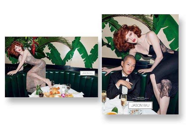 Karen Elson para Jason Wu - Foto: divulgação