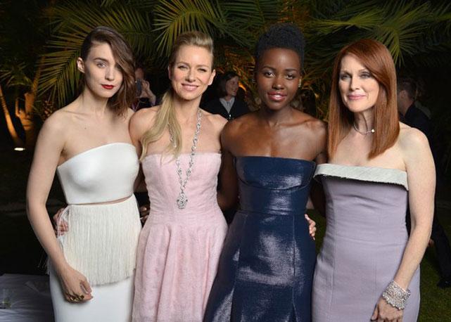 Rooney Mara, Naomi Watts, Lupita Nyong'o e Julianne Moore no sul da França para festa da Calvin Klein - Foto: Getty Images