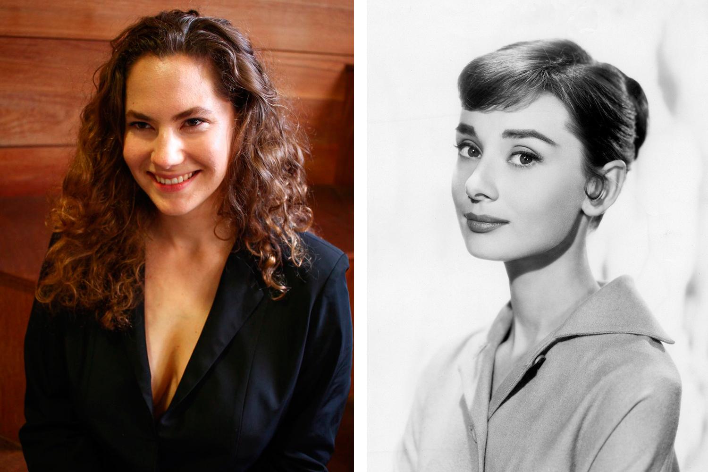 Emma Ferrer (à esquerda) e Audrey Hepburn (à direita) - Fotos: Karla Brito e Divulgação