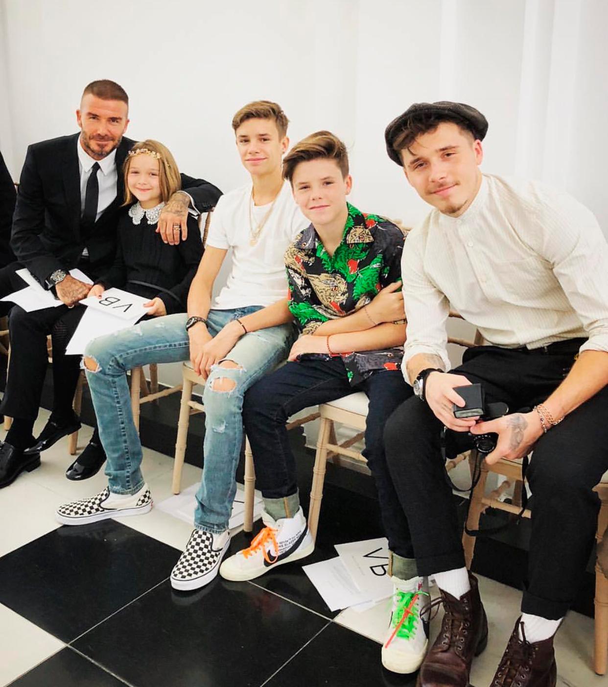 Família Beckham reunida em Londres - Foto: Reprodução/Instagram/@veryfilmi