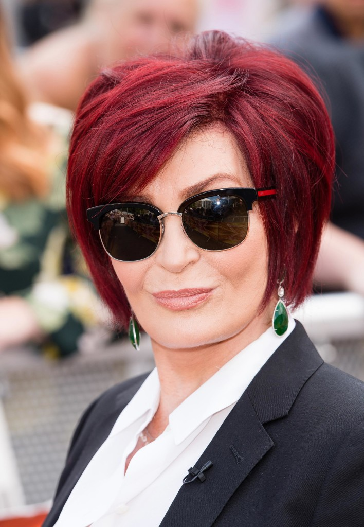 "Sharon Osbourne com o ruivo ""winne style"" - Foto: Getty Images"