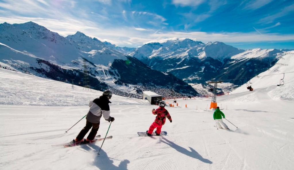 Esquiando em Verbier - Foto: Divulgação
